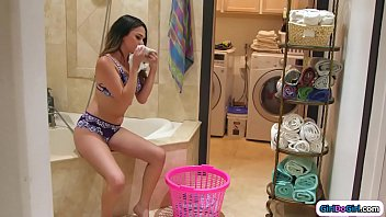 Stepteen is caught sniffing mums panties