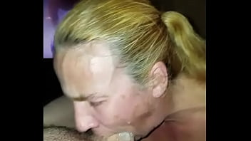 Mommy gets more cum down her throat