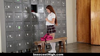 InnocentHigh - Slutty Cheerleader (Kimberly Brix) Squirts All Over Coach