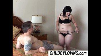 Cute chubby goth Candi enjoys a sticky facial cumshot