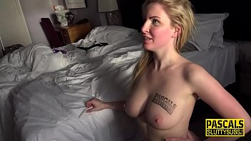 Eaten out fetish sub gets banged and jizzed
