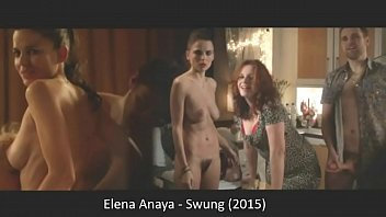 Elena Anaya explores the swinger lifestyle getting naked and showing her bush in the 2015 movie Swung.