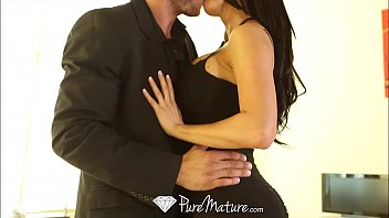 HD - PureMature Peta Jensen strips off black dress to fuck