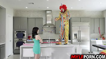 Hot MILF Alana Cruise hires a clown for her birthday and got surprise when the horny clown gave her an awesome birthday sex.