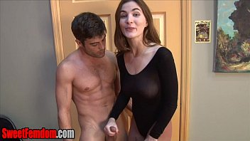 Eat his cum for Molly Jane CUCK CEI HANDJOB LEOTARD PANTYHOSE